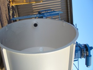 Bulk Bag Hopper with High Level Indicator