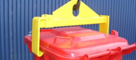 One-off customized Steel fabrication - Bin Lifter