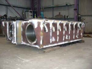 Heavy steel fabrication and testing